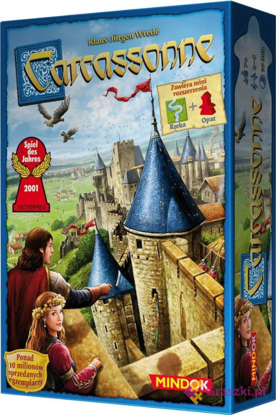 Carcassonne PL (edycja druga) opat + rzeka